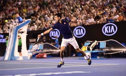 Djokovic tiếp tục bay cao với lần thứ 29 vào bán kết Grand Slam. Ảnh: AFP.