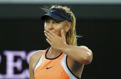 Sharapova dính chấn thương nửa cuối mùa trước và chưa lấy lại phong độ tốt nhất. Ảnh: Reuters.