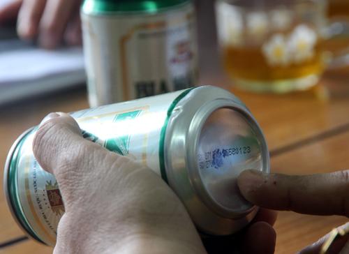 Lon bia không nhìn thấy thời hạn được xác định lỗi do máy in phun.