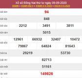 Dự đoán XSDNA 16/9/2020 chốt KQXS Đồng Nai thứ 4