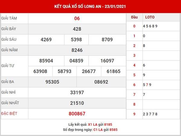 Phân tích kết quả XS Long An thứ 7 ngày 30/1/2021
